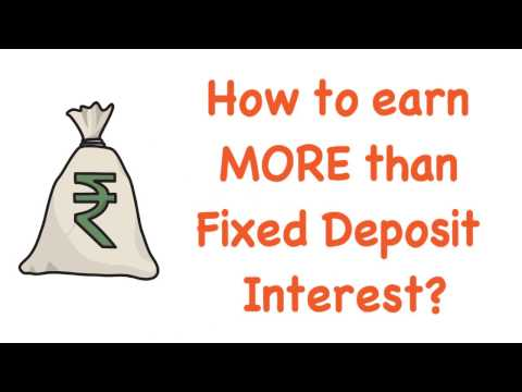 How to earn more than Fixed Deposit Interest   after #Demonetization