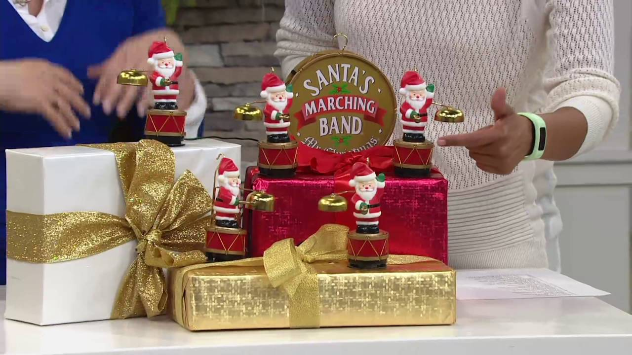 mr christmas 25th anniversary santas marching band on qvc