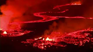 Hawaii Natl. Guard Films Nighttime Lava Flow