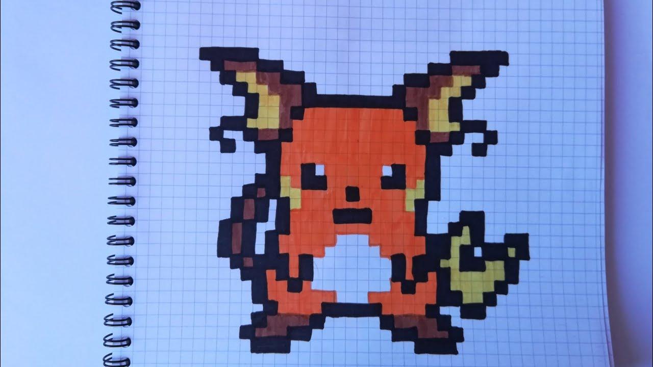 Pixel Art Raichu Pokémon