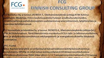 Finnish Consulting Group FCG FINNISH CONSULTING GROUP