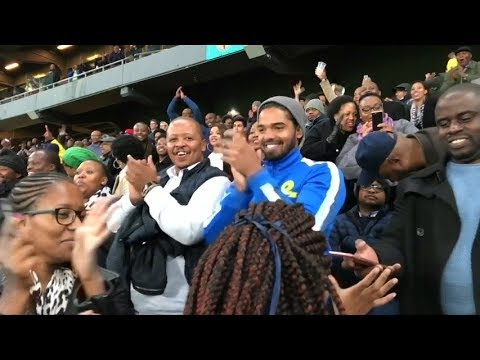 For the love of football: South Africans react to the FC Barcelona vs Sundowns game