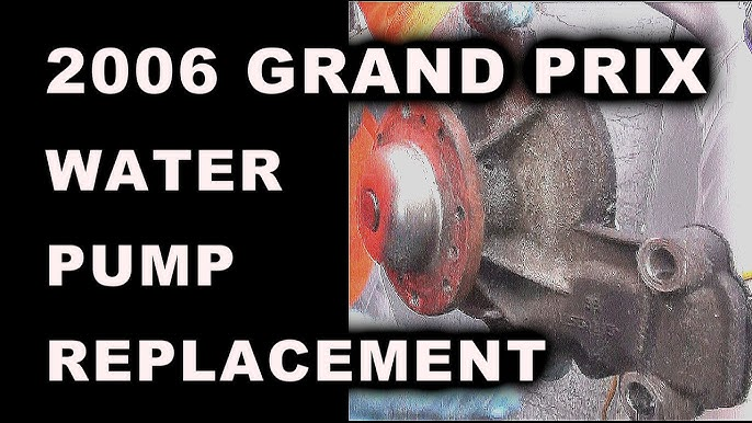 Pontiac Grand Prix 3 8 Water Pump Replacement Youtube