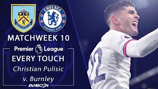 Every Christian Pulisic touch from Chelsea39s win v Burnley  Premier League  NBC Sports
