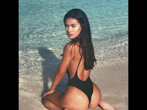 Love Island's Montana Brown flashes her bum in a thong swimsuit on holiday in the Maldives