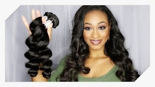 Unboxing & First Impression: Brazilian Loose Wave   Mi Lisa Hair Aliexpress   Princess Chae