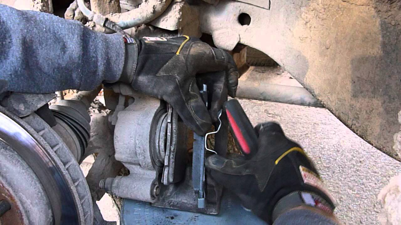 medium resolution of replacing the front brakes on a chevy k1500 4x4