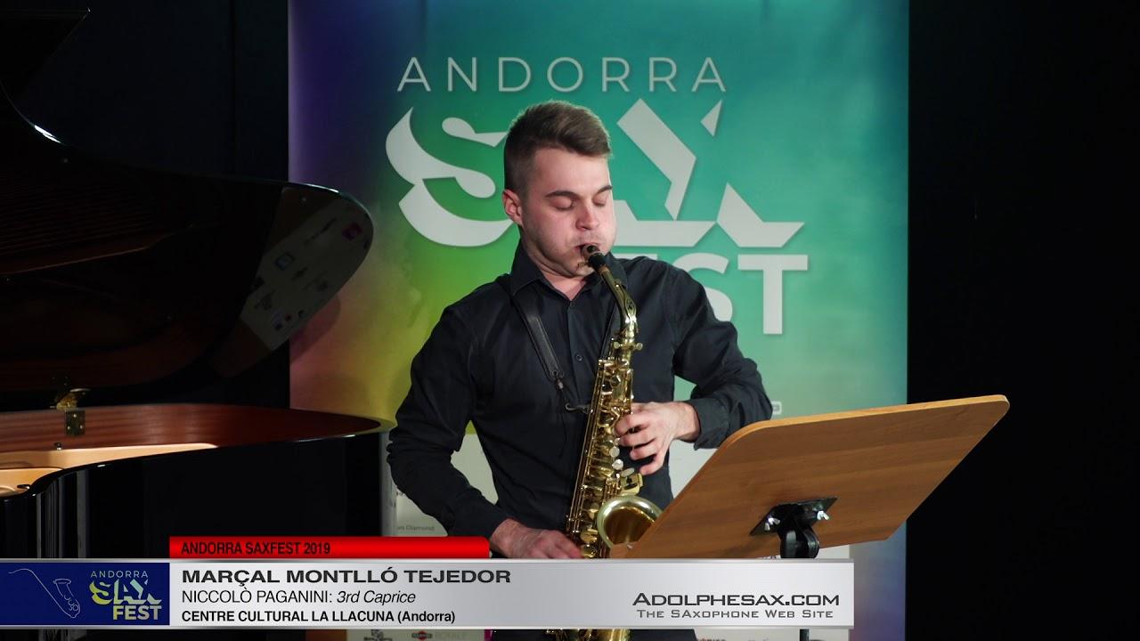 Andorra SaxFest 2019 1st Round   Marc?al Montllo? Tejedor   3rd Caprice by Niccolo Paganini