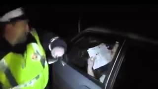 Радикальный метод общения сотрудника ДПС с обнаглевшим водителем