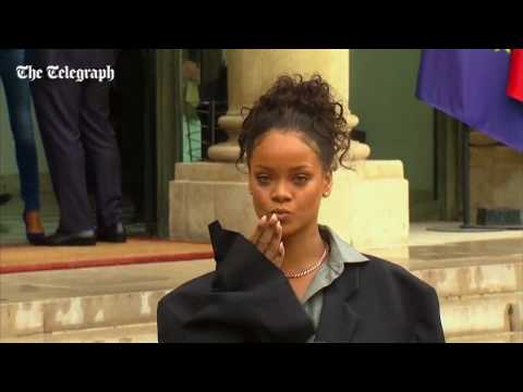 Rihanna meets with President Macron to discuss education