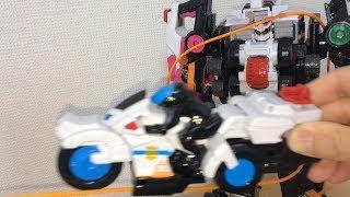 DXで第7話再現!快盗戦隊ルパンレンジャーVS警察戦隊パトレンジャー パトカイザーバイカー劇中シーンをDX玩具で再現!!前田動画
