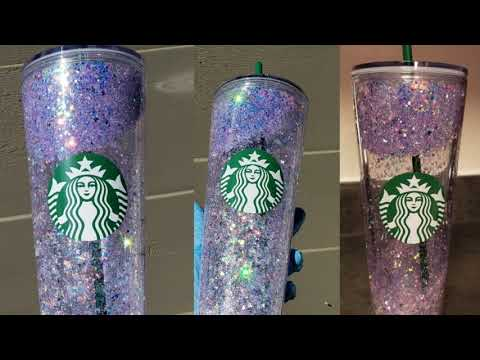 Glitter snowglobe starbucks cup