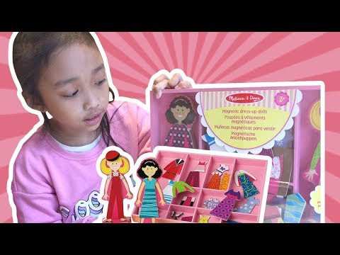 Magnetic Doll | Melissa & Doug Magnetic Wooden Dress Up Doll Unboxing