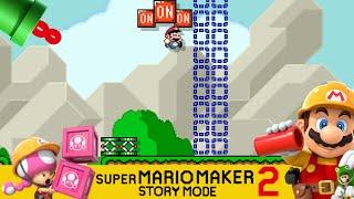 Super Mario Maker 2 Story mode #8: Uit, aan, uit, aan, uit!