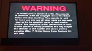 Opening to For Love of the Game 2000 VHS