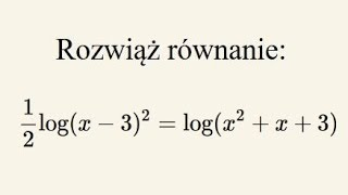 Równanie logarytmiczne z haczykami