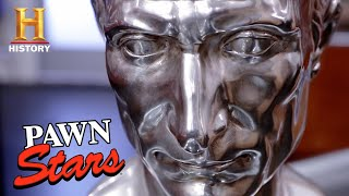 Pawn Stars: RARE Julius Caesar Bust is PURE SILVER (Season 18) | History