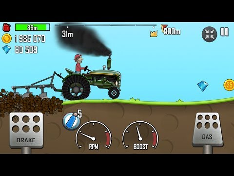 Hill Climb Racing - New Tractor With Plough In Countryside GamePlay