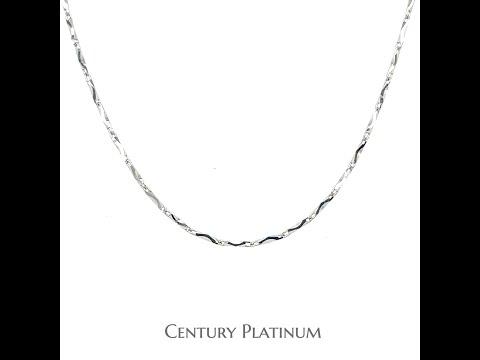世紀白金【白金項鍊】可調式 元寶系列 WNA001