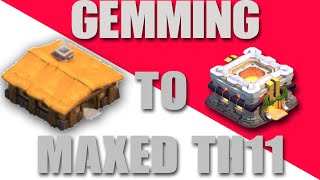 1,000,000 GEMS!!! $8,000 WORTH! - GEMMING FROM TH1 TO MAX TH11!!!+New Cannons ! | Clash of Clans