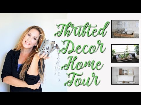 Thrifted Decor Home Tour-How I Decorate with Thrift Store Items-Kitchen+Dining Room+DIY Ideas