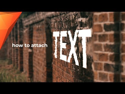 How to Attach TEXT to WALLS (Motion Tracking) - Hitfilm Express Tutorial