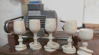 Сувениры на токарном. Часть 1. Souvenirs made of wood by March 8. Part 1.