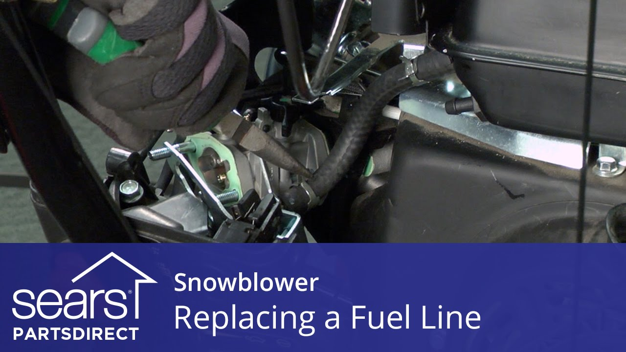 hight resolution of replacing a fuel line on a snowblower