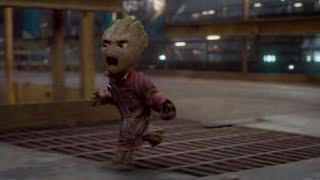 Baby Groot fights back!