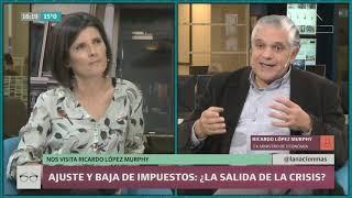 Ricardo López Murphy propone bajar impuestos y aumentar el ajuste para lidiar con la inflación