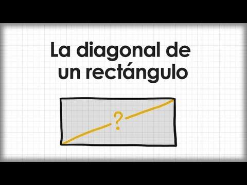 La diagonal de un rectángulo