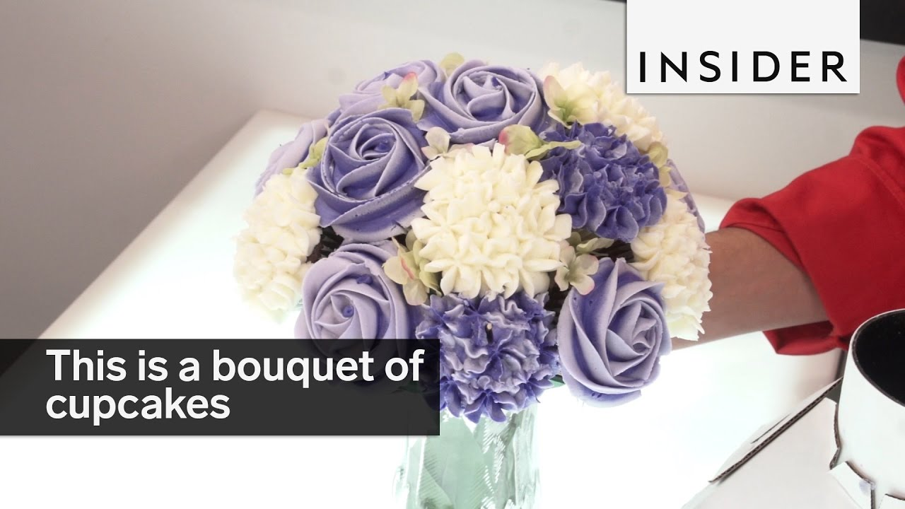 This is a bouquet of cupcakes youtube izmirmasajfo Choice Image
