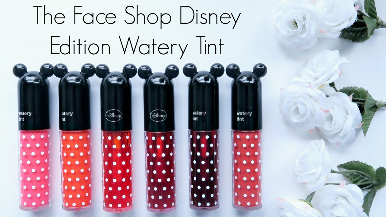 Review The Face Shop Disney Edition Watery Tint Youtube