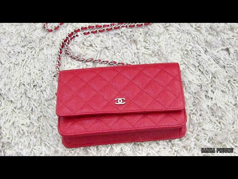 4fc6f236aa29 CHANEL Red WOC, Color Transfer??? - YouTube