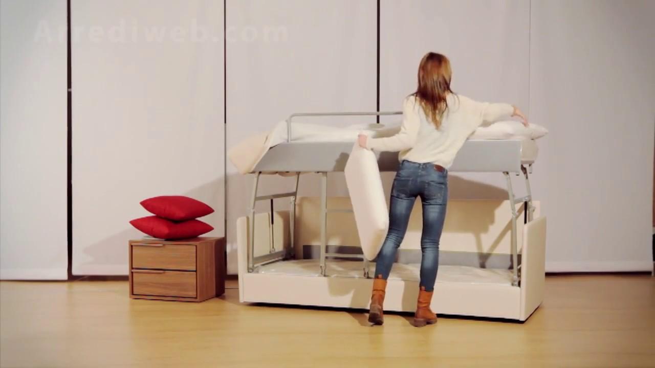 Divano letto a castello m2060 sofa bed made in italy - Divano che diventa letto a castello ...