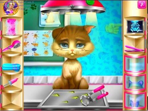 Браузерная игра  «Лечить кошку», «Ухаживать за котом»