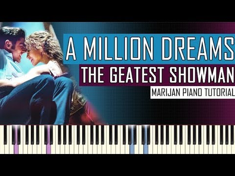 How To Play: The Greatest Showman - A Million Dreams | Piano Tutorial + Sheets