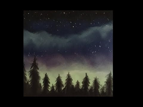 Quick and Easy Landscape Drawings With Soft Pastels #1 – Lonely Forest
