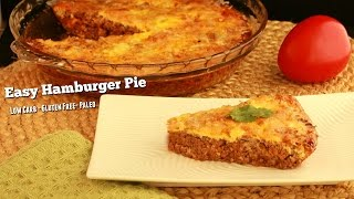 Hamburger Pie Low Carb, Paleo