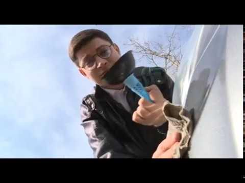 Как убрать вмятину на машине при помощи вантуза?