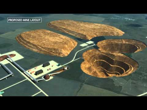 Mining Iron Ore Technical 3D Animation / IR PR Presentation Kostanay Kazakhstan KazaX Minerals Inc.