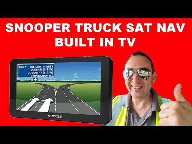 Snooper truckmate S8110 SAT NAV Built in TV