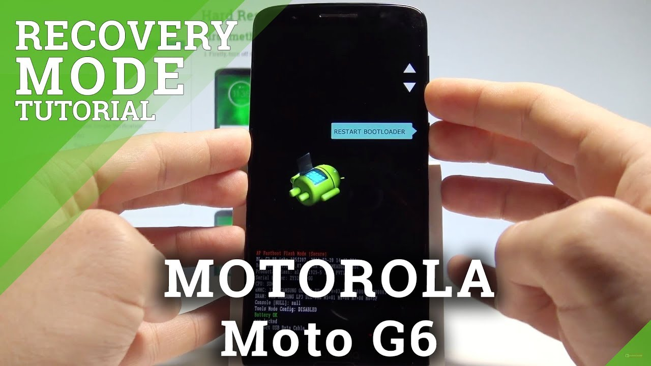 How to Enter Recovery Mode in MOTOROLA Moto G6 - Android Recovery System  |HardReset Info