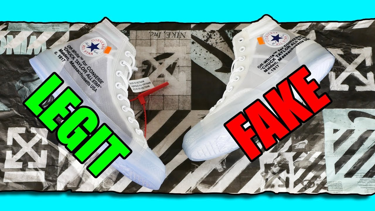 Legit Vs Fake Off White X Converse Vere False