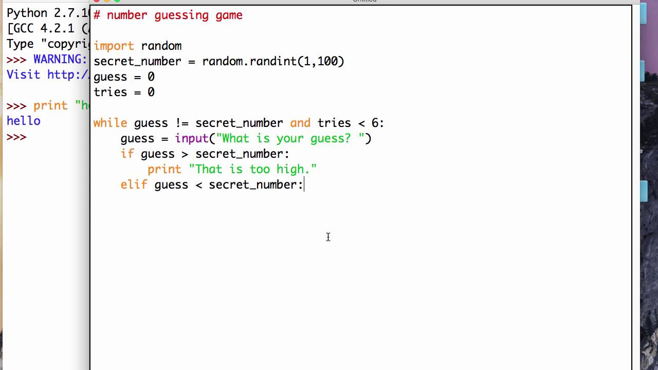 Make a computer game with Python | Teach Your Kids to Program | Number  Guessing Game