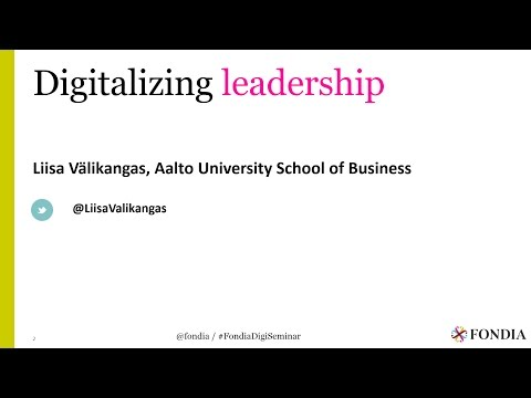 Digitalizing leadership | Liisa Välikangas