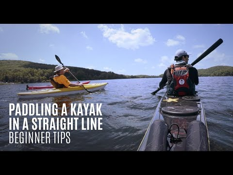 Paddling a kayak in a straight line - Beginner Kayaking Tips - Kayak Hipster