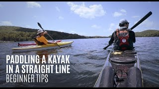 Paddling a kayak in a straight line   Beginner Kayaking Tips   Kayak Hipster