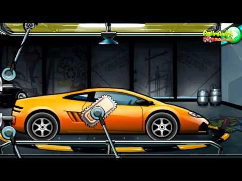 Игра мойка машин мультик джип зелёный