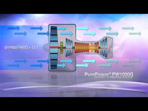 Pratt & Whitney PW1000G PurePower Engine How It Works